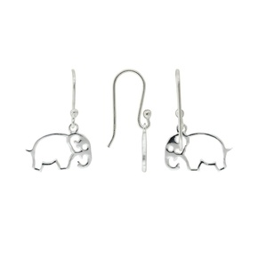 Tomas Sterling Silver Cutout Elephant Hook Earrings