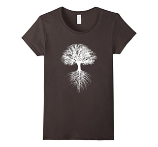 Women's Tree of Life T-Shirt Small Asphalt