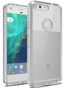 Google Pixel Case, LK [Shock Absorption] Air Hybrid Armor Defender Protective Case and Crystal Clear Back Cover for Google Pixel (Clear)