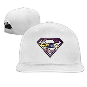 ElishaJ Adjustable Baltimore Sport Football Logo Baseball Caps White