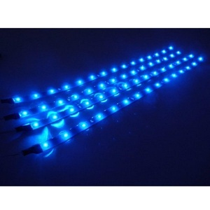 Fengfang 30cm 15 LED Car Flexible Waterproof Light Strip (pack of 4) (Blue)