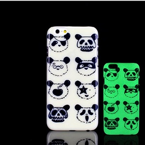 iPhone 7 Case, Glow in the Dark Cute Panda Pattern TomCase Fluorescent Back Cover for iPhone 7 Case 4.7 inch, P2