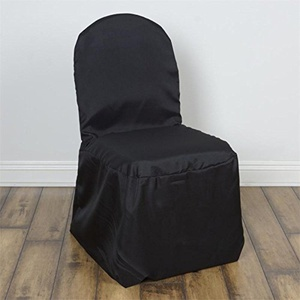 100 Black Polyester Banquet Chair Covers