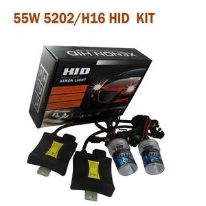 Spevert 5202/H16 12V 55W HID Xenon Conversion Kit Car Headlight Lamps Single Beam Bulbs with Slim Ballast 10000K(1 Pair)- 2 Year Warranty