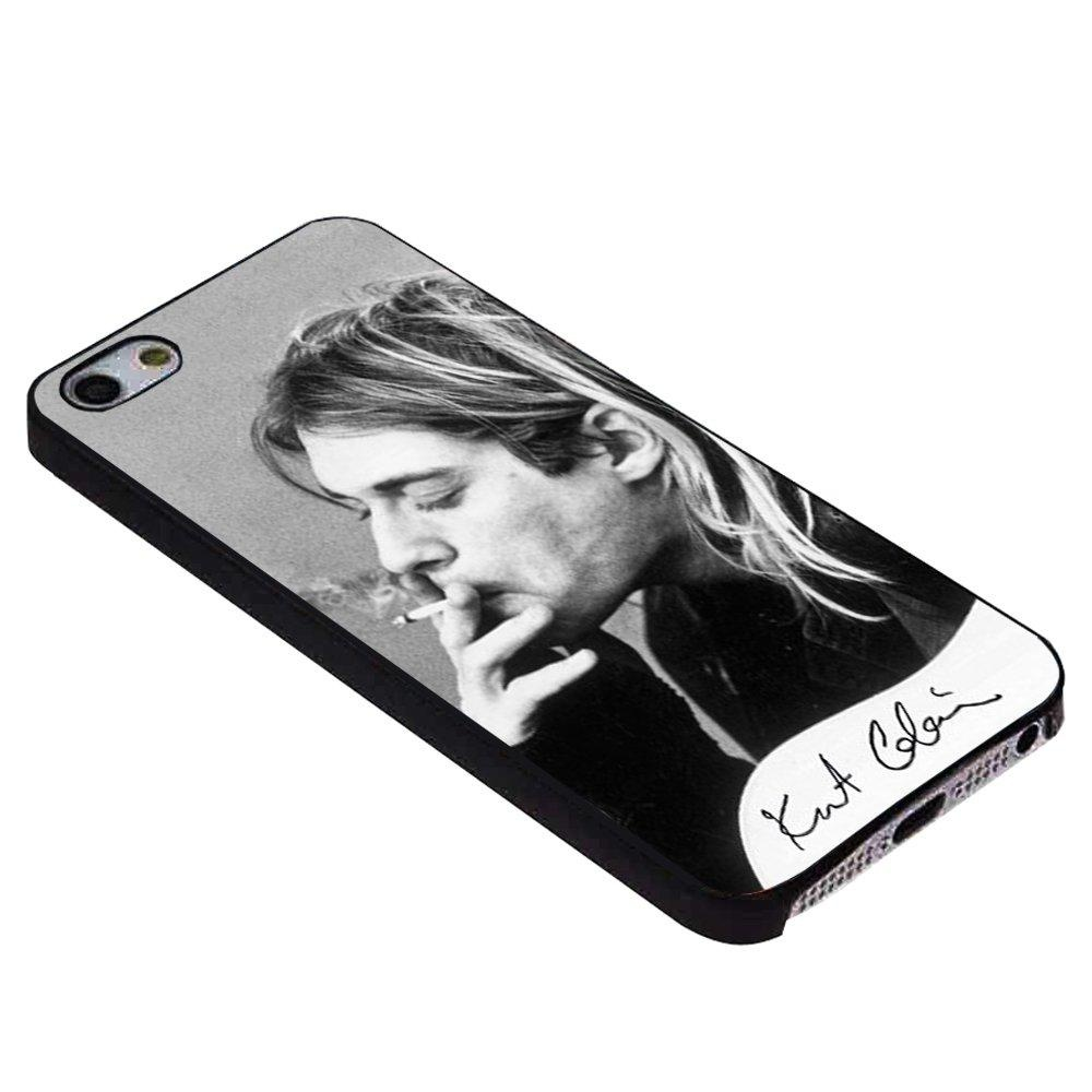 Kurt cobain smoking black and white for iPhone Case