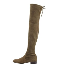 MERUMOTE Women's Round Toe Low Heel Elastic Plus Size Spring Winter Over Knee High Usual Daily Boots Oliver 14 US