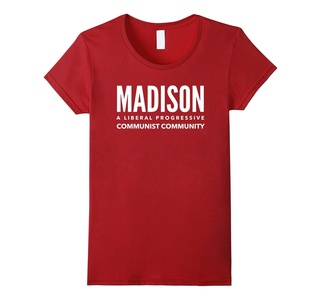 Women's Madison: A Communist Community - Wisconsin Funny Shirt Small Cranberry