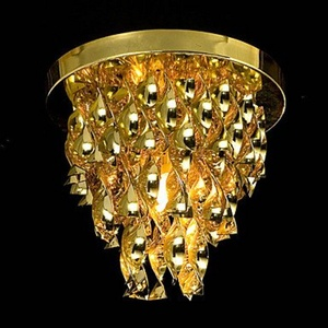 WCG 40W Luxury Golden Pendant Light in Acryl