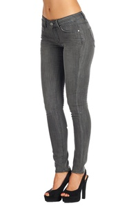 BLUE AGE Multistyle Denim and Cotton Skinny Jeans / Pants (11, DA2120_GREY)