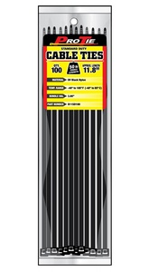Pro Tie AC11SD100 11.8-Inch Assorted Color Standard Duty Color Cable Tie