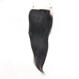 Babe Hair 7A Best Virgin Brazilian Closure Silky Straight Brazilian Lace Closure Bleached Knots Closures Free/Middle/Side/3 Part Virgin Human Hair Lace Closure