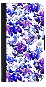 Watercolor Flowers © PU Leather and Suede Passport Cover
