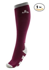1 Pair Men & Women Compression Performance Socks for Athletic , Sports, Running, Nurses, Shin Splints, Flight Travel, Pregnancy, Circulation, and Recovery (S/M)