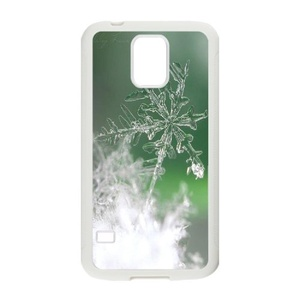 Samsung Galaxy s5 Case, LEDGOD Fashionable Gift DIY Crystal Snowflake White Cover Phone Case for Samsung Galaxy s5 Shell Phone.