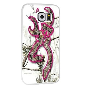 Browning Hot Pink Camo for Samsung Galaxy S6 Edge White case