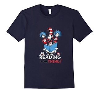 Men's Reading Is Our Thing Shirt XL Navy