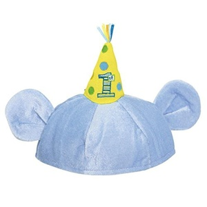 Mickey's 1st Birthday Novelty Hat, Blue by Napkins