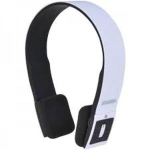 SYLVANIA SBT214-WHITE Bluetooth Headphones with Microphone (White)