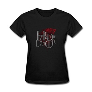 ZhiBo Women's Vintage Red Dragon Hold the Door Customized T-shirts Black XX-Large Woman