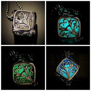 Best Gift Chic Cube Pendant the Little Mermaid's Teardrop Glow in Dark Necklace