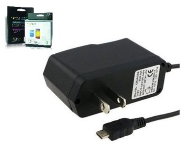 Alcatel Fierce 4 Sonne Micro USB Wall Charger with 4 Foot Cord & Smart IC Chip to Prevent Overcharge