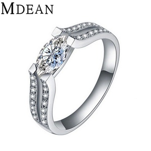 delatcha Jewelry Oval Wedding Ring white gold filled Jewelry Engagement vintage Ring zircon Accessories MSR034