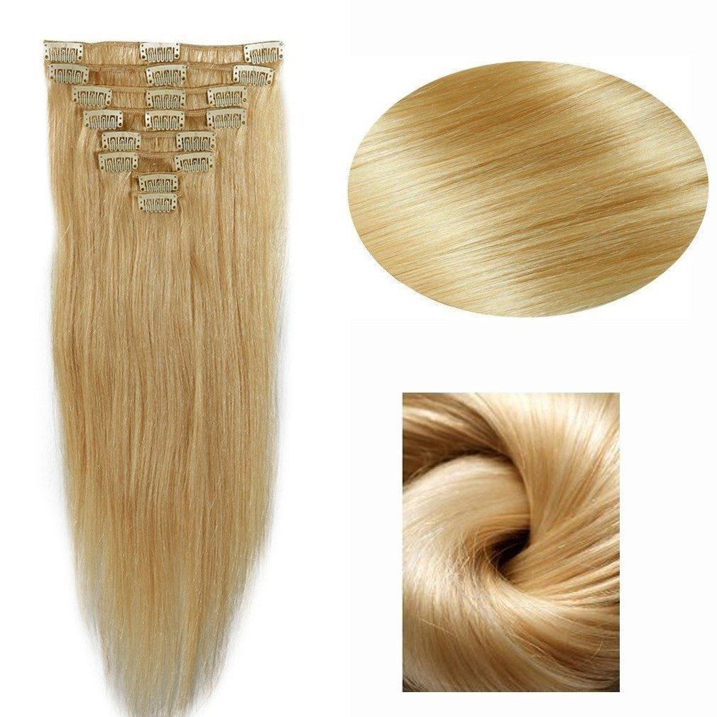 Online Store Standard Weft 70g 20 Inches Long Straight Bleach