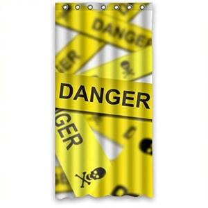 Danger Bestselling Fashion Shower Curtain 36(W)X72(H)