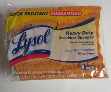 Lysol Heavy Duty Scrubber Sponges, 4 Pack