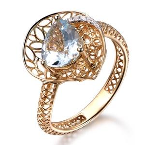Blue Aquamarine Engagement Ring,Pear Cut Stone,14K Yellow Gold Ring,Wedding Promise Band,Anniversary