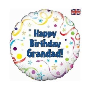 Happy Birthday Grandad 18 inch Foil Balloon by Happy Birthday Balloons