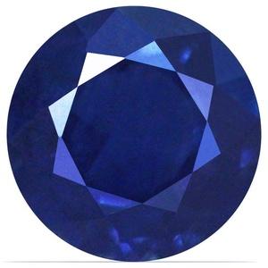 1.36 Carat Loose Blue Sapphire Round Cut Gemstone