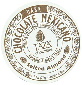Taza Organic Salted Almond Chocolate Mexicano Bar, 2.7 Ounce -- 12 per case. by TAZA chocolate