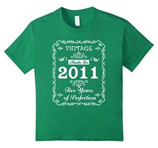 Kids Kids I'm 5 Birthday T-Shirt Five-Year Old Gift Tee 12 Kelly Green