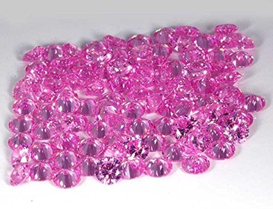 6.50MM A++ QUALITY PINK CUBIC ZIRCONIA ROUND CUT CZ STONE LOT 50 PCE
