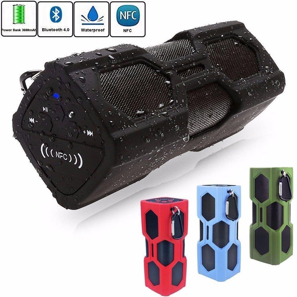 Wireless Bluetooth Speaker Waterproof Shockproof NFC Super Bass for Smartphone