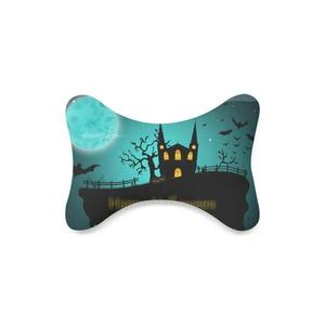 Fashion Custom happy halloween Bone Shape Car Seat Neck Rest Custom Car Neck Pillow/Cushion Head Support Neck Support Pillow
