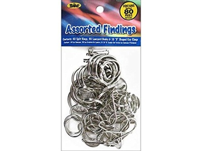 Toner Craftlace Findings Assorted Silver 80pc