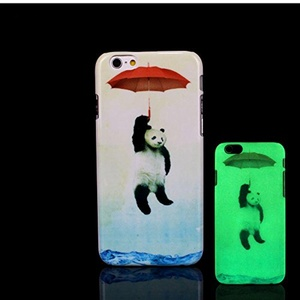 iPhone 7 Case, Glow in the Dark Panda Pattern TomCase Fluorescent Back Cover for iPhone 7 Case 4.7 inch, P3