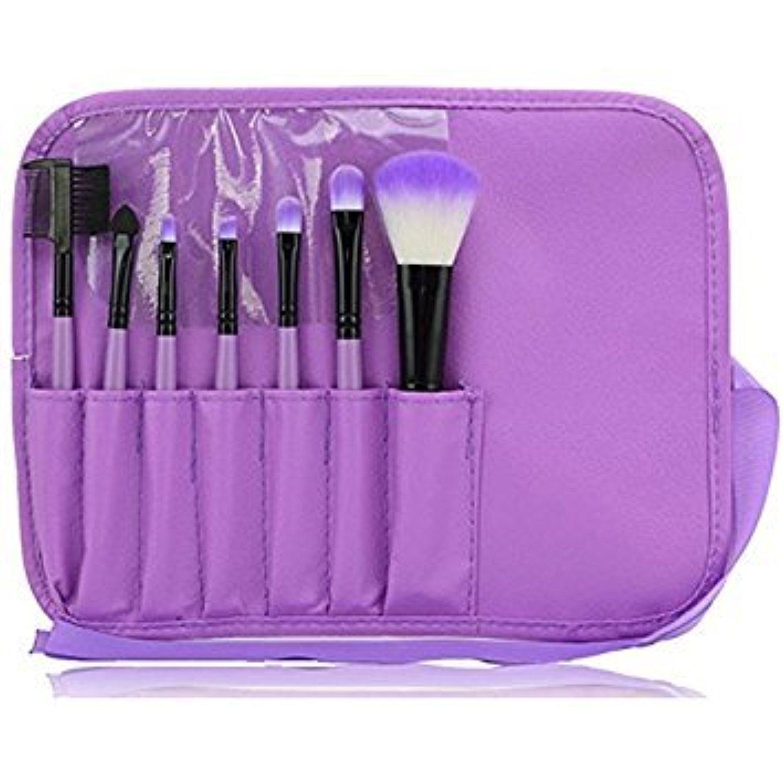 Makeup Brushes Set Powder Foundation Eyeshadow Eyeliner Lip Brush Tool 7pcs,brush set (Purple)