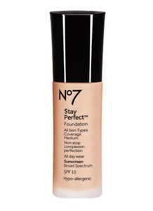 Stay perfect foundation SPF15 from boots No7,calico -3pcs