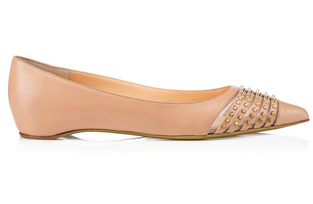 AIWEIYi Womens Flat Fashion Shoes Rivets Studded Pointed Toe Ballet Flats