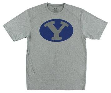 Old Varsity Mens Yale Tri Blend Crew T Shirt Grey L