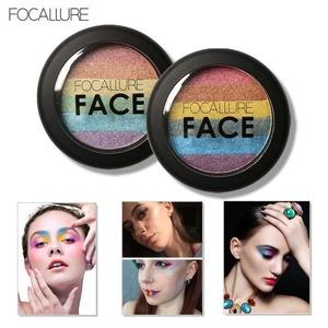 Doinshop Focallure Baked Blush Face Shimmer Color Rainbow Highlight Eyeshadow Palette (2#)