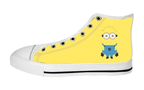 Women's High Top Full Canvas Upper Soft Inner Canvas Shoes Custom Despicable Me Minions Design