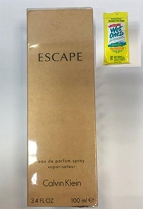 Escape by cálvín 3.4oz EDP SPR WITH WET ONES TRAVEL PACK
