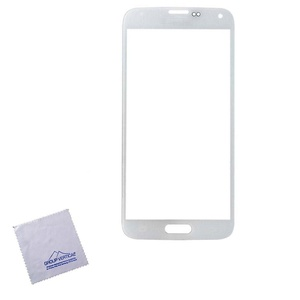 Group Vertical White Replacement Front Glass Cover with No Logo for Samsung Galaxy S6