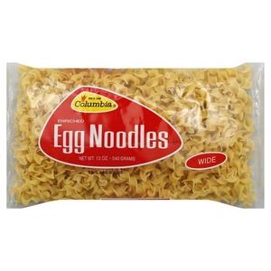 Columbia Enriched Wide Egg Noodles 12 oz (Pack of 2)