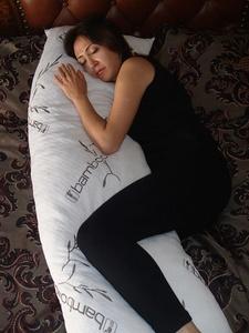 Bamboo Cover Shredded Memory Foam Full Body Pillow Easy Washable