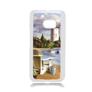 Diy Customized Cell Phone Case for Beach Lighthouse White HTC One M10 Hard Back Cover Shell Phone Case (Fit: HTC One M10)
